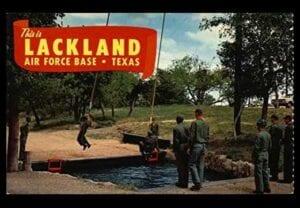 Postcard from Lackland Air Force base, San Antonio, Texas.