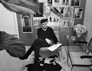 Rudi Gernreich in his studio.