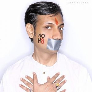 In 2008, Prince Gohil participated in Adam Bouska's NOH8 worldwide protest against California's Proposition 8.