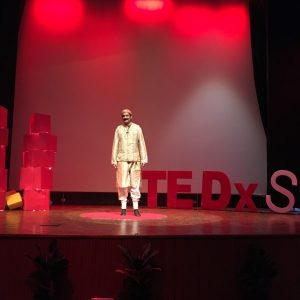 India's first openly gay prince appeared on the TED stage to advocate for the AIDS Healthcare Foundation.