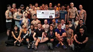 Broadway Bares raised $25,000 for Rainbow Railroad in 2017.