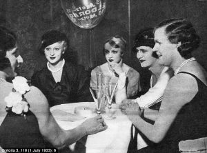 Transvestites in the Eldorado club, one of the most famous gay clubs in Weimar Berlin.