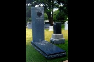 Barbara Jordan's memorial stone. She was the first African-American woman to be buried in the Texas State Cemetery, in Austin, Texas.
