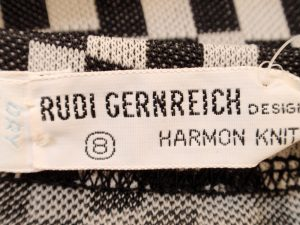 The coveted Rudi Gernreich label.