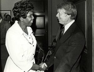 Jordan and President Carter, ca. 1977.