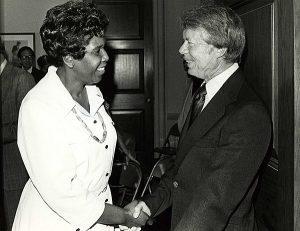 Jordan and President Carter, ca. 1977.