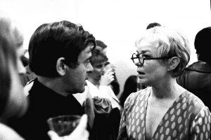 Gallery owner Eugenia Butler with designer Rudi Gernreich, 1969.