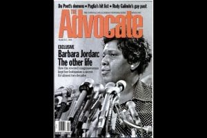 Jordan posthumously honored by The Advocate, March 1996.