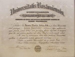 Jordan's diploma from Boston University School of Law, 1959.