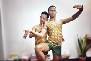 Strike a pose--dancers of the first gay Khmer classical dance troupe.