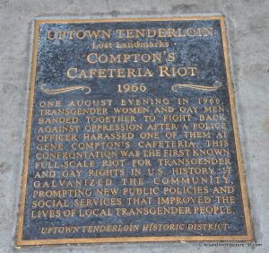 A marker placed by the Uptown Tenderloin Historic District commemorates the riot and its aftereffects.