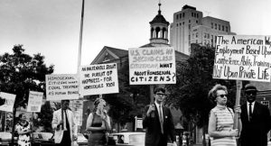Events from LGBTQ history, such as this early demonstration on July 4, 1965, at Independence Hall, in Philadelphia, Pennsylvania, will now be added to the public school curricula in California and Illinois.