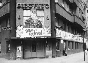 Exterior of the Eldorado club, Berlin.