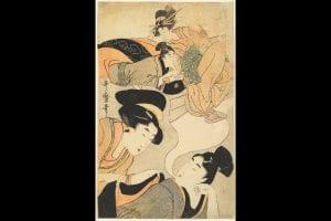The Young Man's Dream. A Wakashu dreams of sleeping wih a famous courtesan. ca. 1801-1802. Kitagawa Utamaro.