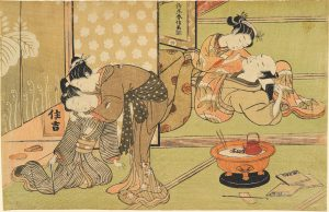 Two Couples in a Teahouse. ca. 1769.Suzuki Harnobu.