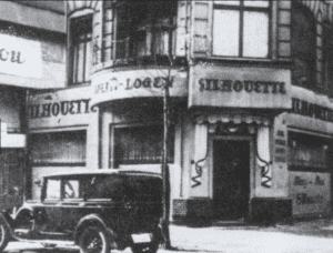 "The Silhouette cabaret in Berlin, where regular Marlene Dietrich learned in 1929 that she had been cast in the lead role of ""The Blue Angel."""