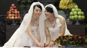 Huang Mei-yu and Yu Ya-ting were married in 2012, although same-sex marriage was not yet recognized, in the first Buddhist same-sex ceremony in the country. Since then, same-sex marriage has gradually gained support in Asia.