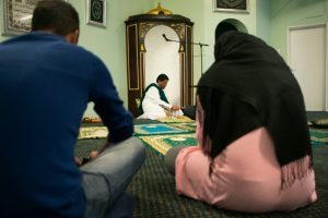 Men and women worship together at the People's Mosque in Cape Town, South Africa.