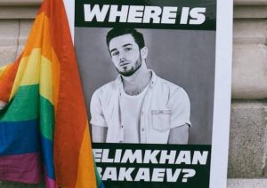 Russian-speaking American activists held a rallу in NYC on the anniversarу of the disappearance of the Chechen singer Zelim Bakaуev.