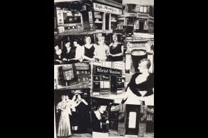 Gay and lesbian bars in Berlin, all of which were shut down, May 1933. Collage from the anti-Semitic Nazi magazine Der Notschrei.