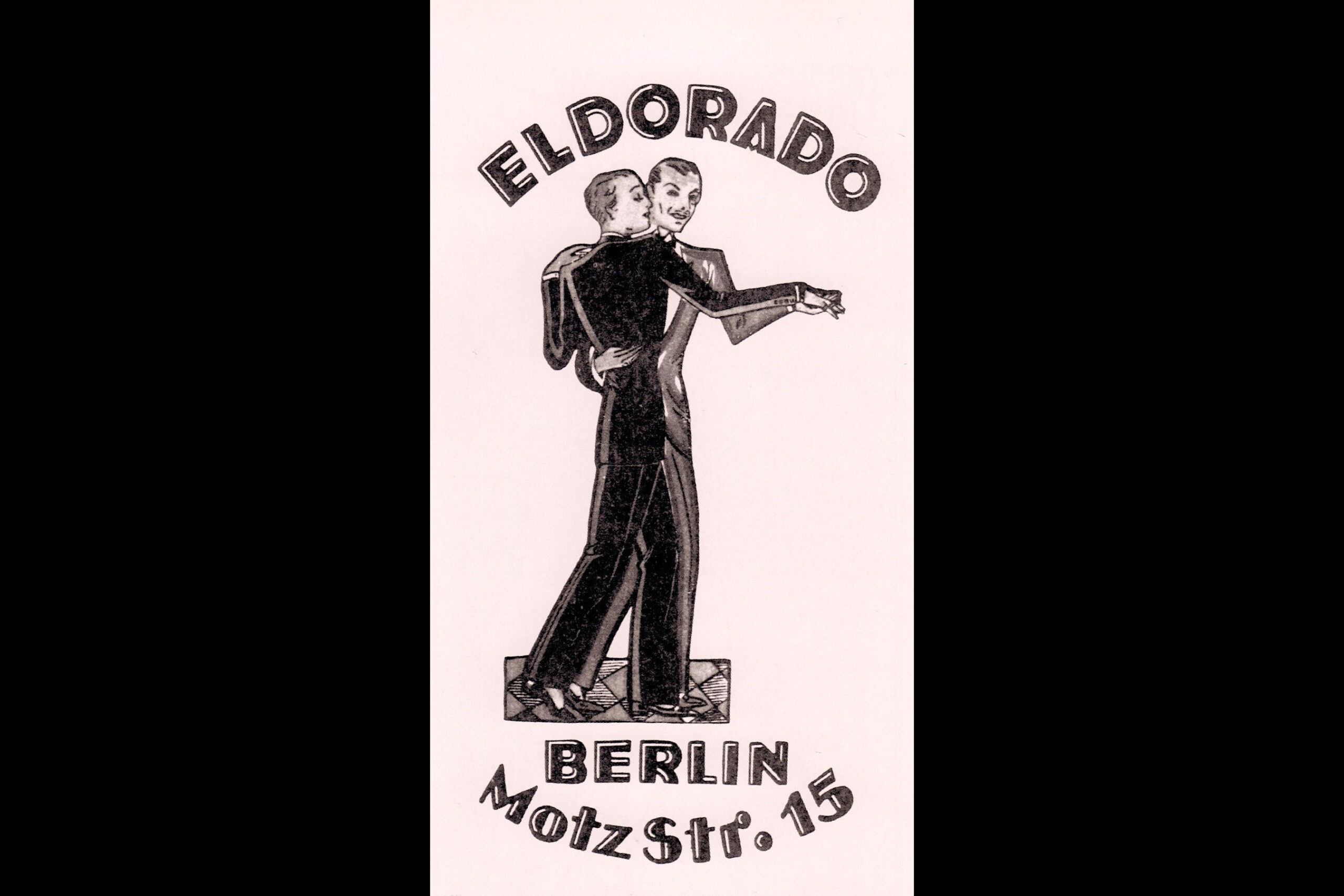"""Club poster for the Eldorado, where Marlene Dietrich performed, and where customers could buy """"chips"""" to exchange for dances with transvestite hostesses."""