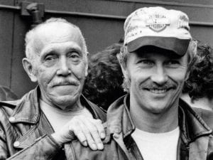 Touko Laaksonen, aka Tom of Finland (left) and Durk Dehner.