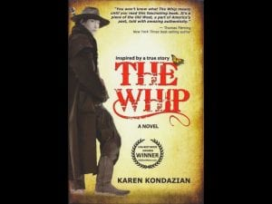 """The Whip,"" a novel inspired by the true story of Chalie Parkhurst. Parkhurst was a stagecoach driver during the California gold rush. Although he lived publically as a man, was discovered to be born a woman upon his death."